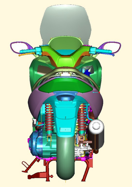 Kymco Xciting 500 2005 Motor ADN (34)