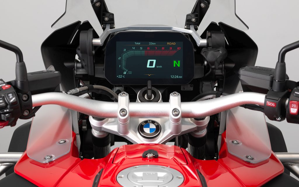 BMW Connected Ride y Llamada de Emergencia Inteligente ECALL con pantalla gigante, disponibles para las BMW R 1200 GS