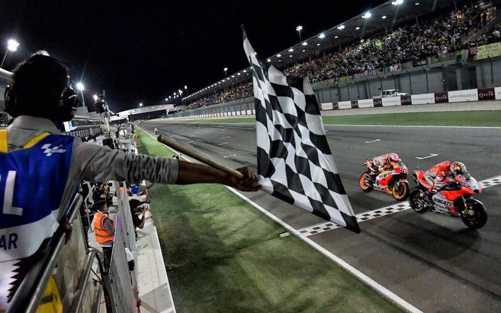 MotoGP 2018 Qatar: Dovicioso y Marquez, Ducati y Honda, al límite.