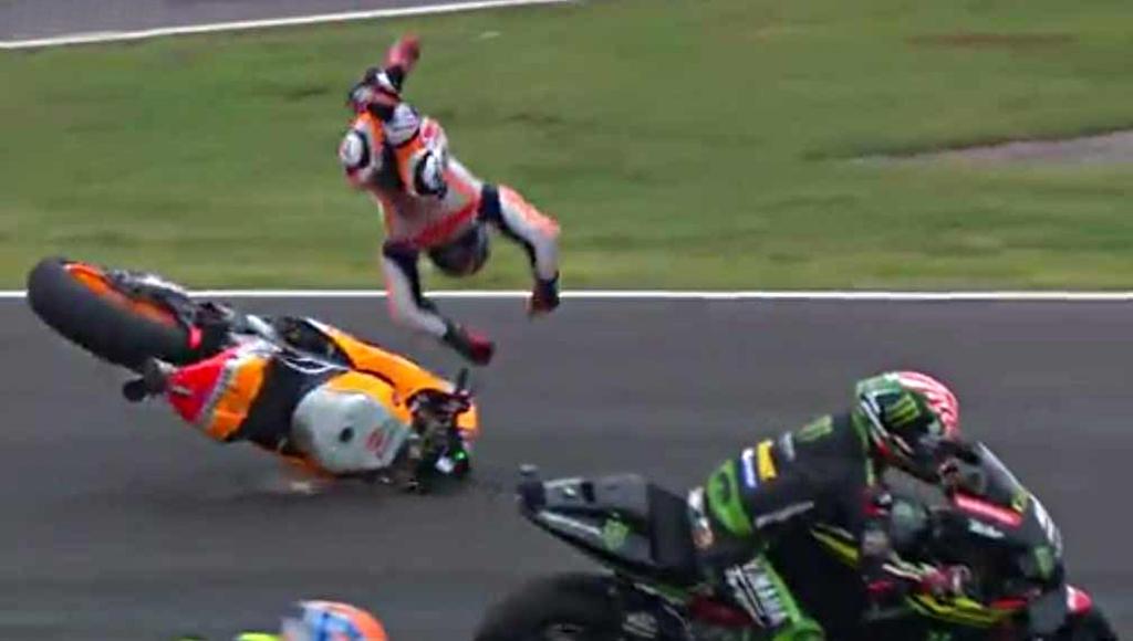 Pedrosa, operado de su caída en MotoGP Argentina 2018.