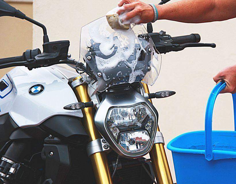 Fotos como lavar la moto