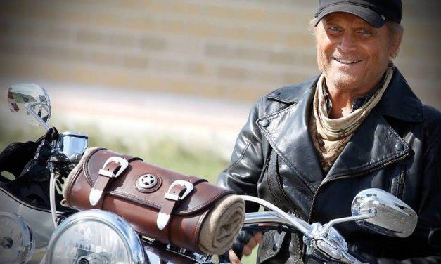 Fotos Motos y cine: Terence Hill  rueda en Harley en… ¡Almería!