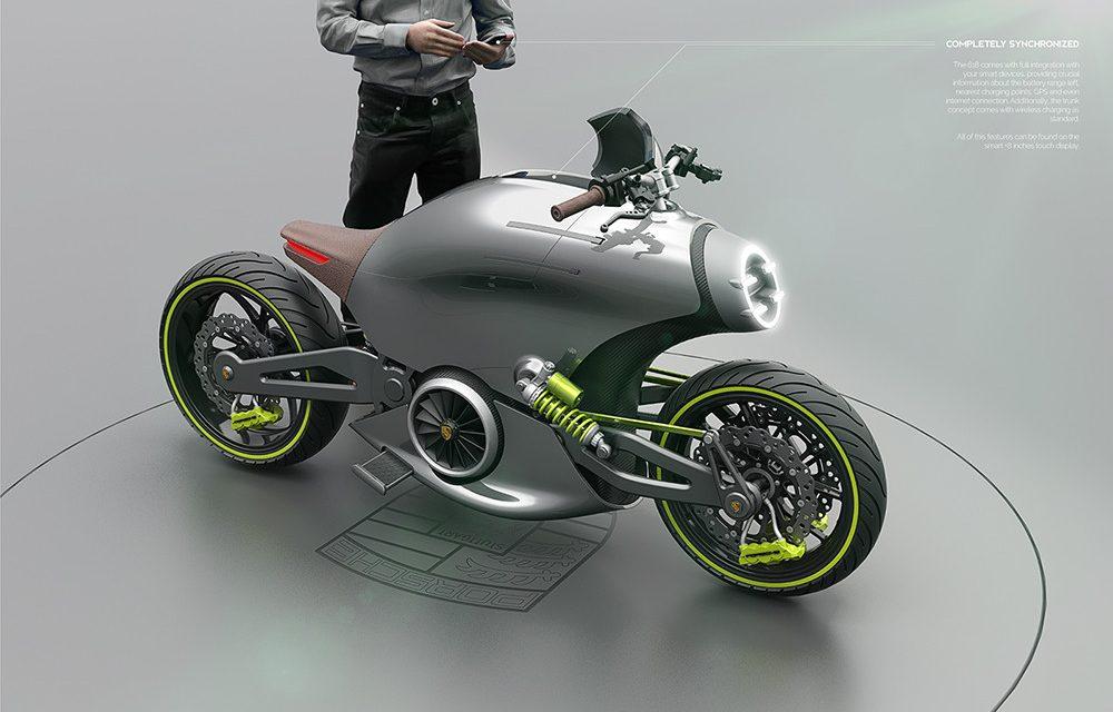Una moto Porsche 618, eléctrica, de diseño desquiciado y diseñada por un español ¿Increible?, pues…