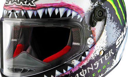 "Fotos casco Lorenzo Race-R Pro ""White Shark"" Réplica  (3 imágenes))"