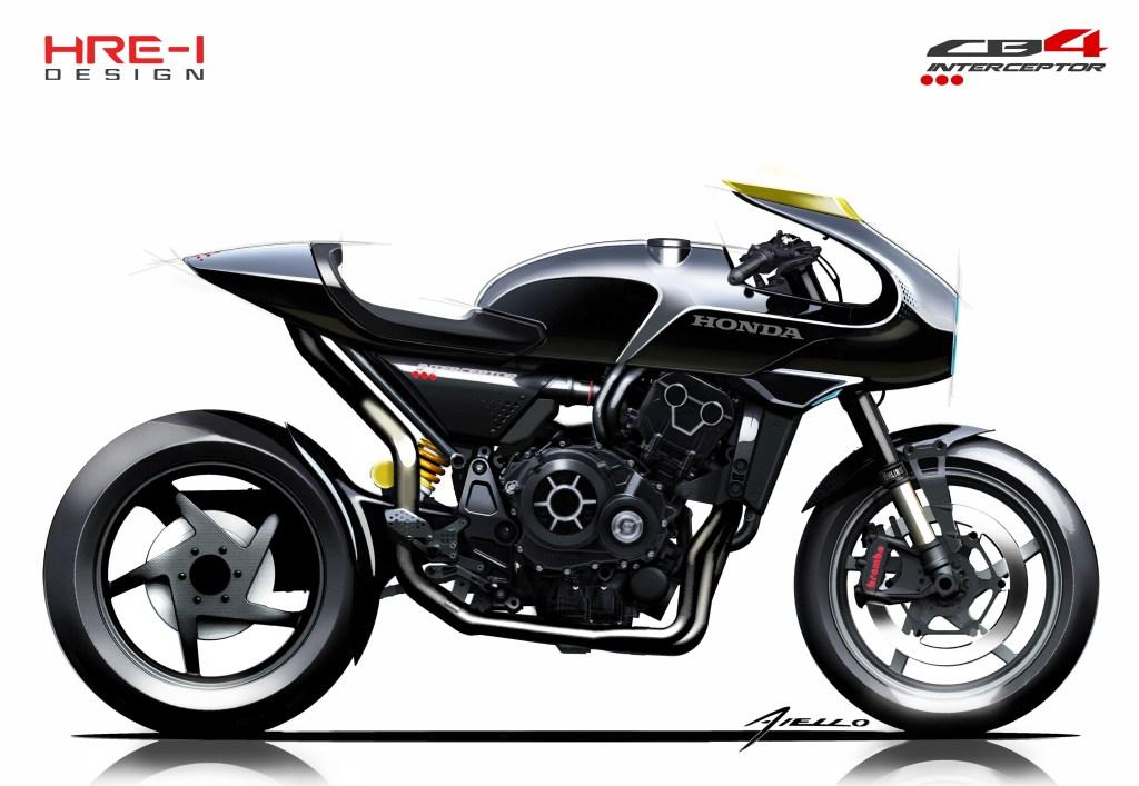 Honda CB4 'Interceptor' Concept 2017 MotorADN red (16)