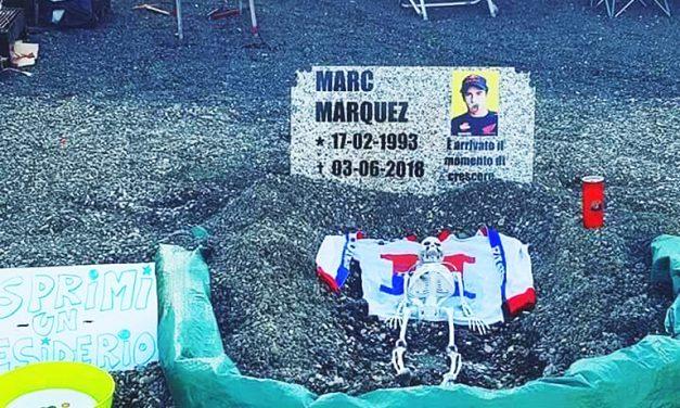 """Rossistas ponen la """"tumba"""" de Márquez en el GP de Mugello 2018"""