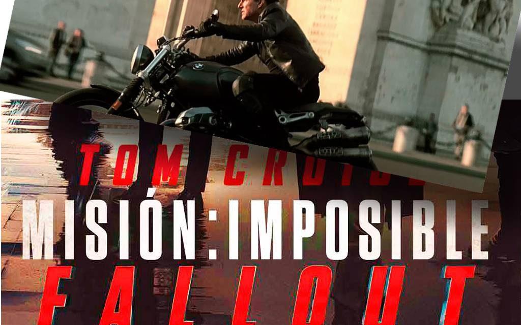 MISION IMPOSIBLE 6 FALLOUT: TOM CRUISE CON LA BMW NINE T SCRAMBLER.