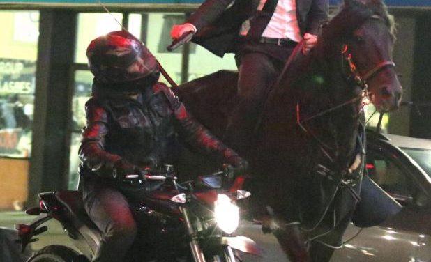 JOHN WICK 3 Parabellum: Keanu Reeves y los motoristas Ninja