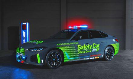 ESTE ES EL NUEVO SAFETY CAR OFICIAL MOTOE: BMW i4 M50 ELÉCTRICO.